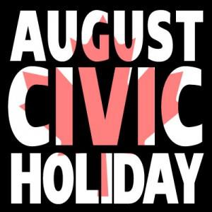 Aug Civic Holiday