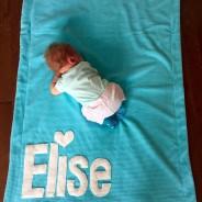 Elise and her L'il Monkeys blankie